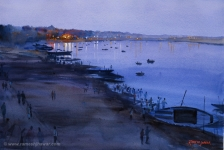 <a target='_blank' href='http://artspread.com/artdetail.html?a=571'>View of Ghat at Dusk</a>